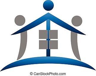 House teamwork real estate logo