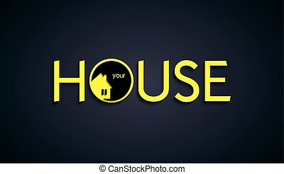 House text creative design. Vector Illustration