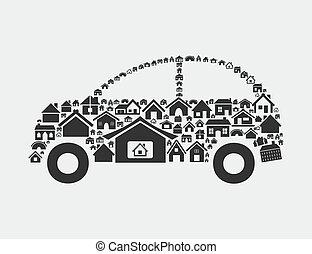House the car