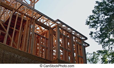 House timber frame for a progressing house a new development...