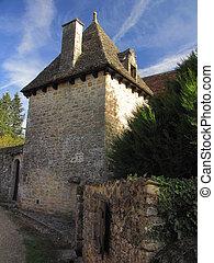 House, tower, street, village,