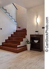 house:, travertin, escalier