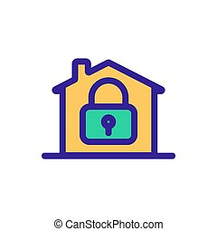 House turnkey icon vector. Isolated contour symbol ...