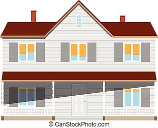 House two story - New cottage, house two story, real estate...