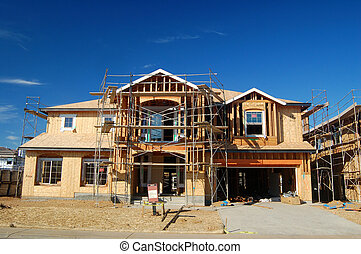 House under construction - unfinished house with a for sale...