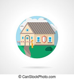 House under protection color detailed vector icon