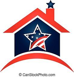 House USA flag logo