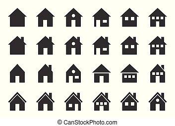 house vector icon, glyph design pixel perfect