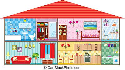 House - Vector illustration, color full