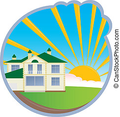 House. Vector illustration for you design