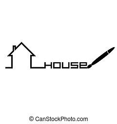 house vector in black
