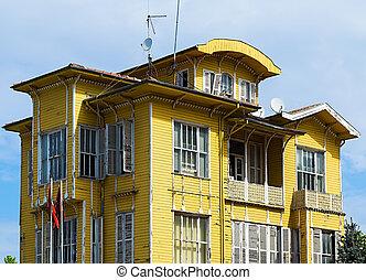 house village yellow