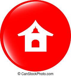 house web icon button