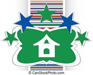 house web icon button vector