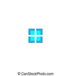 House windows logo icon