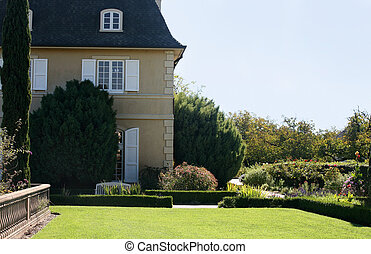 House with a garden - House with a beautifully landscaped...