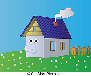 House with a human face