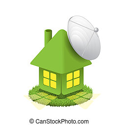 House with antenna