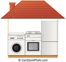 house with appliances