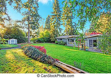 House with backyard garden