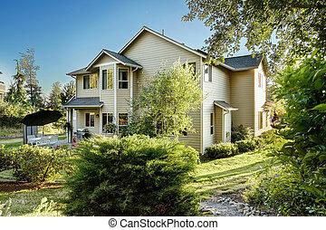 House with backyard garden.