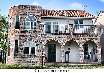 house with brick