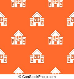 House with broken windows pattern seamless