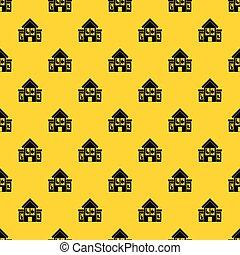 House with broken windows pattern vector