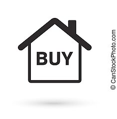house with buy icon