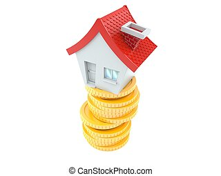 House with coins