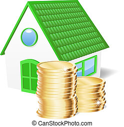 House with coins.