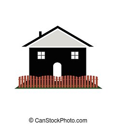 house with color art vector illutration