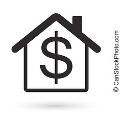 house with dollar sign icon