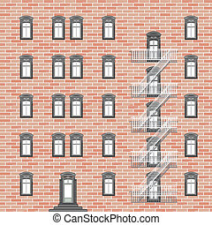 house with emergency ladder