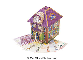House with euro notes