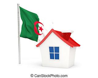 House with flag of algeria