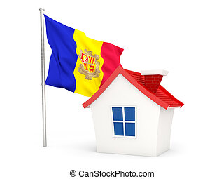 House with flag of andorra