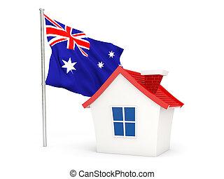 House with flag of australia