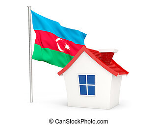 House with flag of azerbaijan