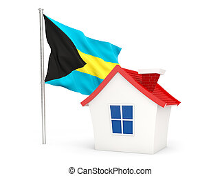 House with flag of bahamas