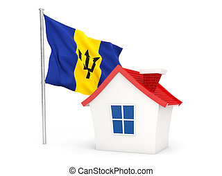 House with flag of barbados