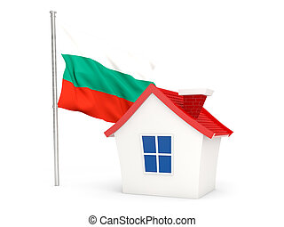 House with flag of bulgaria