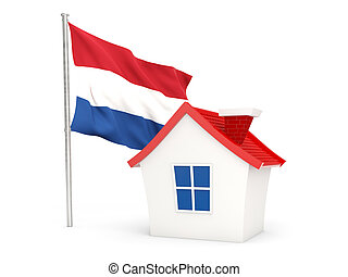 House with flag of netherlands