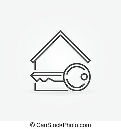 House with key icon