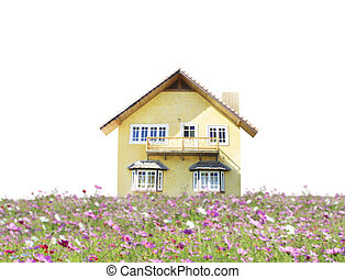 house with landscaping on the front