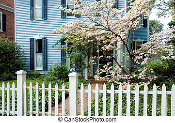 House with Picket Fence - Many young girls dream to have a ...