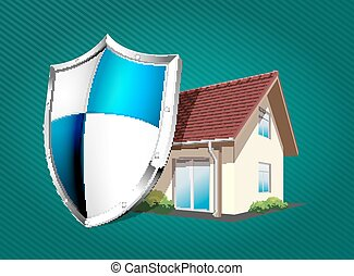 House with protection shield
