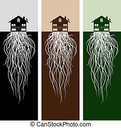 House With Roots - An image of house with roots.