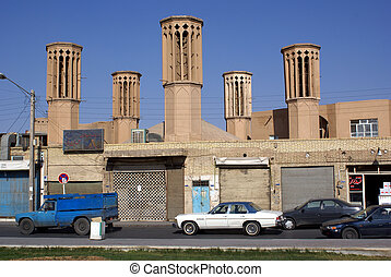 House with towers  - Near Amir Chakmak in centre of Yazd