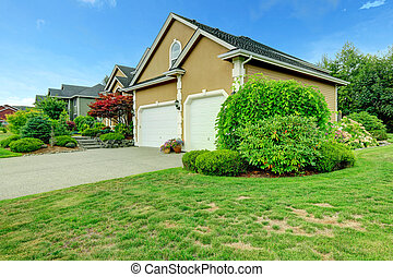 House with two car garage and driveway